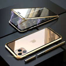 360° Magnetic Adsorption Case Glass Cover For iPhone 11 Pro Max Xs X 7 8 SE 2020