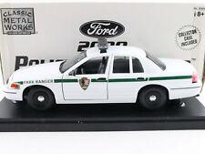 Classic Metal Works 2000 Ford Police Interceptor 1:24 20404 Park Ranger Model
