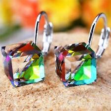 Beads High Quality Cude Metting Cube Shape Earring Magic Crystal Stud Earrings