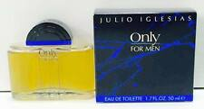 Julio Iglesias Only For Men EDT 50ml Splash (No Spray) New & Rare
