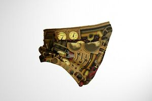 Steampunk Metal Plate Style Neck Cover Snood Scarf Warm Cotton UK Unisex