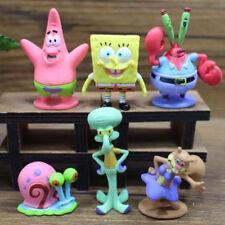 6X Cute SpongeBob Squarepants Figure Patrick Star Figurine Doll Toy Cake Topper