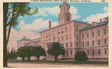 Female Department at State Hospital in Stockton CA Postcard