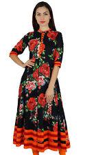 Bimba Women Mandarin Collar Anarkali Kurti Indian Designer-US-14 EX-E271A