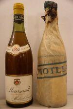 Vin Bourgogne MEURSAULT 1952 Moillard Grivot  blanc wine wein winj