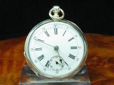 John Wycherley 800 Silber Open Face Taschenuhr Schlüsselaufzug um 1880