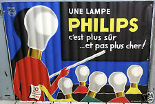 AFFICHE ANCIENNE GUY GEORGET  LAMPES PHILIPS