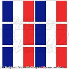 """FRANCE French Flag 40mm (1.6"""") Mobile Cell Phone Mini Stickers-Decals x6"""
