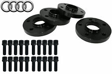 4pc Audi Wheel Spacers 5x112 ( 20mm ) 66.56mm Fits: A4, S4, A5 & S5 2009-2014