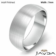 7mm Platinum Classic Men's Wedding Solid High Polish Band Dome Plain Ring 11.5gm