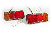 2x LED Rückleuchten Schlusslicht Bremslicht Blinker Rückstrahler LKW 12 24 Volt