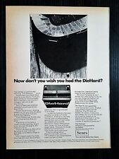 Vintage 1967 Sears DieHard Battery  Full Page Original Ad - Free Shipping