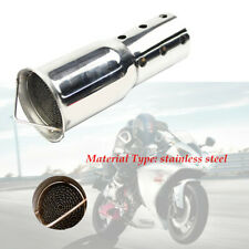 51mm Motorcycle Bike Exhaust Can DB Killer Silencer Muffler Baffle Kit sliver