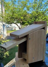 Treated Wood bird houses handmade that are easy to clean