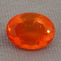 oval cut orange Mexican fire opal 4.02ct Natural Loose Diamonds