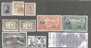 HONDURAS...#3Oa/335; C89/C315...M & U...1889/1961...Lot of 9; 8 Dif...SCV $21.45