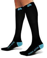 Coovy Genuine Graduated Compression Socks Sports Running Varicose Medical Ankle