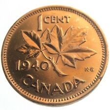 1940 Canada One 1 Cent Penny Copper Canadian Whizzed George VI Coin P447