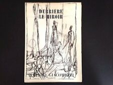 Derriere le Miroir 39-40, Alberto Giacometti, lithographs 1951 vintage INV2094