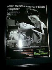 Tim Burton Disney Frankenweenie Rare Original Academy Awards Promo Ad Framed!