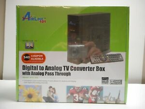 Airlink 101 Digital to Analog TV Converter Box with Analog Pass Through ATVC102