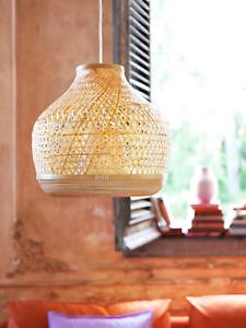 "IKEA MISTERHULT Pendant Lamp Bamboo 18 "" Modern Light Fixture"