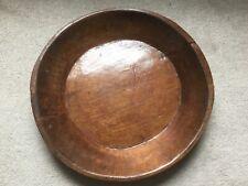 Stunning Large Round Wooden Bowl