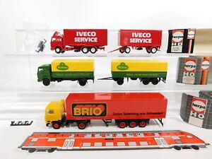 CT503-0, 5 #3x Herpa H0 / 1:87 Truck: 810 420 / Kühne Iveco + Brio Volvo, Mint+