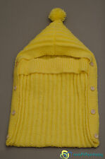 New Hand Knitted Baby Sleeping Bag, Sack, Papoose, Cocoon 0-3 months
