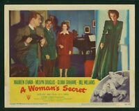 A Woman's Secret original 1949 lobby card 11x14 Melvyn Douglas Maureen O'Hara