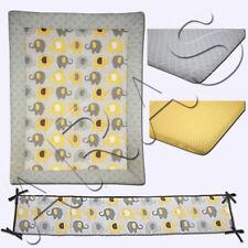 Little Bedding by NoJo Elephant Time 4Pc. (w/Bumper) Portable Crib Bedding Set