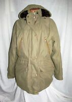 Ladies BARBOUR COLDSTREAM MICROFIBRE winter hooded parka jacket sz 16