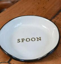 HEARTH & HAND MAGNOLIA Black & White Spoon Rest Stoneware Joanna Gaines