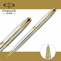 Perfect Parker Sonnet Series Steel Color Golden Clip 0.7/0.5mm Nib Ballpoint Pen