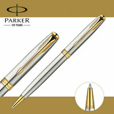 Perfect Parker Sonnet Series Steel Color Golden Clip 0.7/0.5mm Nib Ballpoint Pen