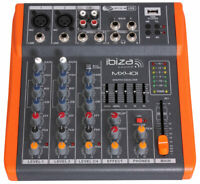 4-KANAL STUDIO-MISCHPULT MX-401  Mixer kompakt MX401 USB Player 5-Band EQ