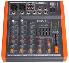 4-KANAL  STUDIO-MISCHPULT  MX-401 Mischpult Mixer kompakt MX401