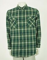 Duluth Trading Co. Burlyweight Green Plaid Flannel Shirt Mens Large