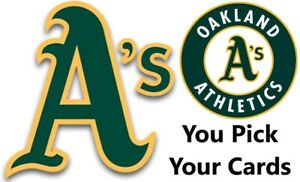 You Pick Your Cards - Oakland Athletics A's Team - Baseball Card Selection