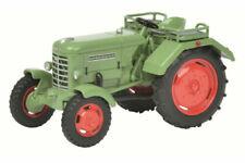 Tracteurs miniatures verts Schüco