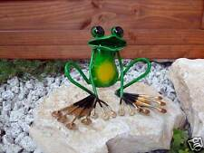 Schön lustig Frosch Metall Gartendeko aufwendig gearbeitet toller Blickfang M1