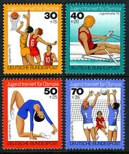 Germany B526-B529, MNH. Sport. Basketball,Rowing,Gymnastics,Volleyball, 1976