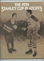 4/11 1974 Stanley Cup NHL Hockey Program Philadelphia Flyers Atlanta Flames GOAL