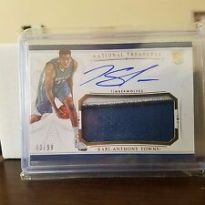 2015-16 National Treasures Karl Anthony Towns Rookie Patch Autograph 43/99 RPA