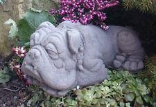 Bulldog Cane Decorazione giardino di pietra pietra mano Cast Statua Scultura Da Giardino