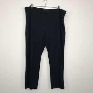 Womens MARKS AND SPENCER Casual Dark Blue Trousers Size UK 20