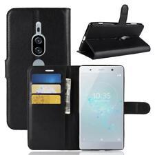 Funda para el Sony Xperia XZ2 Premium Libro Cover Wallet Case-s bolsa Negro
