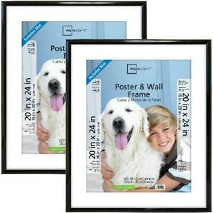 20x24 Trendsetter Poster Picture Frame Black Home Office Wall Set of 2 in Black