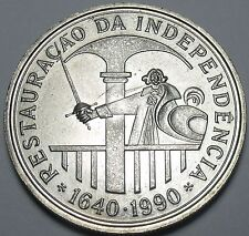 Huge Unc Portugal 1990 100 Escudos~350th Anniversary Of Resoration~Free Shipping