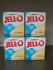 Jell-O Instant Sugar-Free Lemon Pudding & Pie Filling, 1 oz Box, TOTAL 4 PACK!!